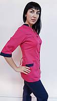 Жіночий медичний костюм Оксана три чверті рукав бавовна