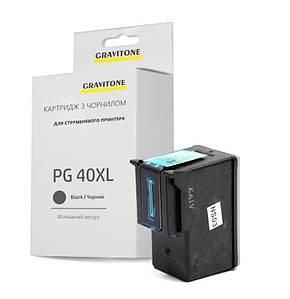 Совместимый картридж Canon PG-40 Bk (XL Ресурс), повышенной ёмкости (450 копий), аналог 0615B025 от Gravitone