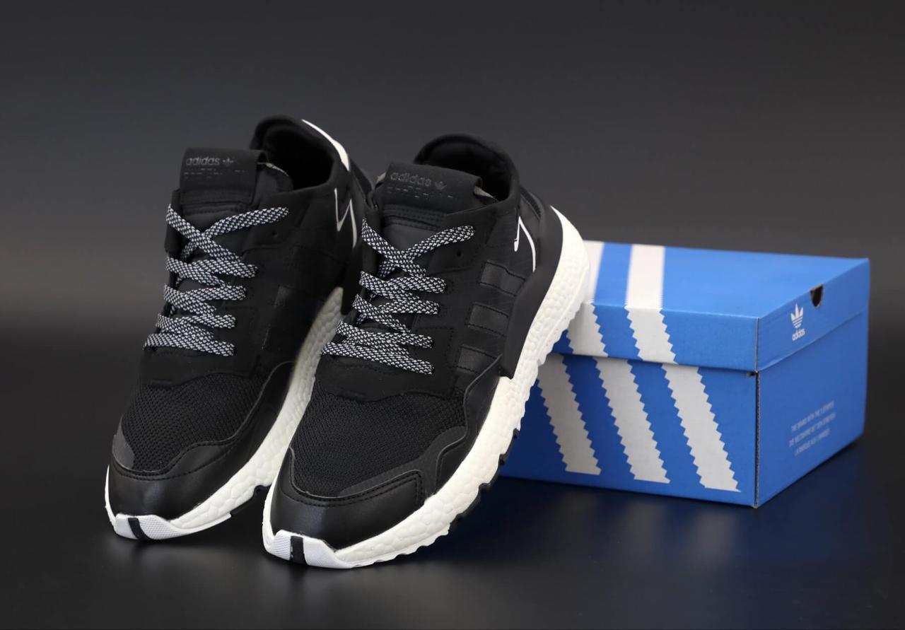 Мужские кроссовки Adidas Nite Jogger в черном цвете