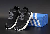 Мужские кроссовки Adidas Nite Jogger в черном цвете, фото 1
