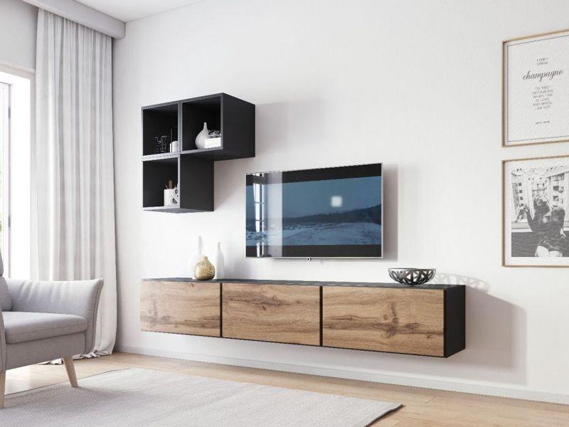 Гостиная Roco 6 антрацид/дуб вотан (модульная мебель) (Cama)