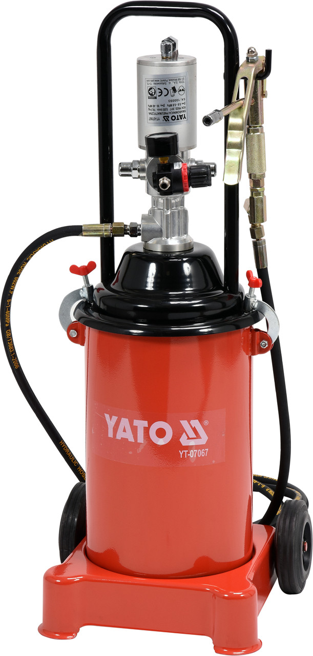 Пневматическое смазочное устройство YATO 12 л 0.8 МПа 4 м