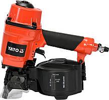 Пистолет гвоздезабивной пневматический барабанный YATO для гвоздей 25-57 х 2.1-2.3 мм