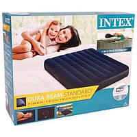 Велюровый надувной матрас Intex интекс 64758 137-191-25 см