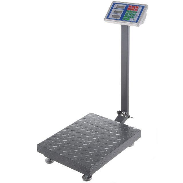 Весы напольные электронные торговые до 300 кг, бытовые (встроенный аккумулятор, влагозащита)
