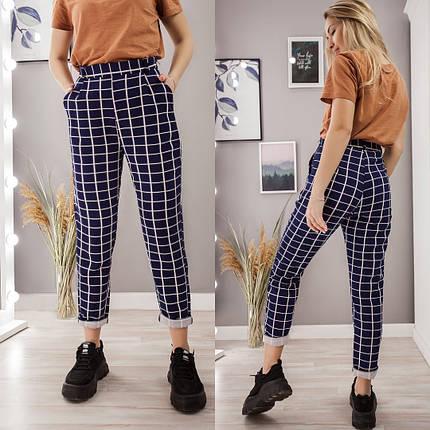 """Укороченные женские брюки в клетку """"WROCLAW"""" с карманами, фото 2"""