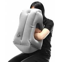 Подушка обнимательная надувная самолетная для путешествий, самолета