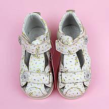 Детские босоножки девочке Белые с принтом тм Tomm размеры 23, фото 3