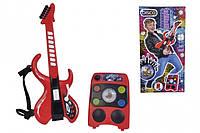 Музыкальный инструмент Simba Toys Диско Электрогитара с усилителем со световыми эф 8 ритмов 60 см (6834251)