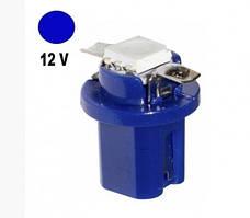 Автолампа Terra T5 B8.5D, макс.диаметр 12мм, 3528х1smd, синяя, 12В