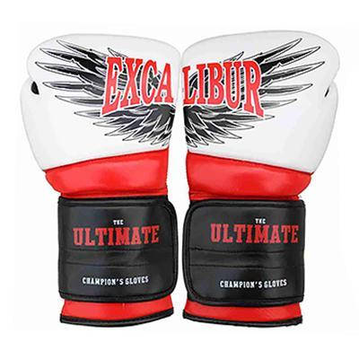 Перчатки боксерские Excalibur 8031-02 Ultimate (белый/красный/черный), фото 2
