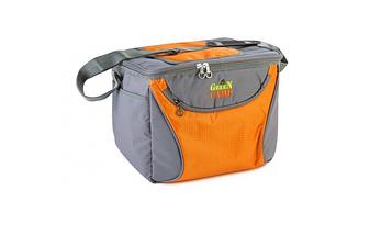 Термосумка, сумка-холодильник GREEN CAMP GC1410-3, серо-оранжевая, объем 15 л, фото 2