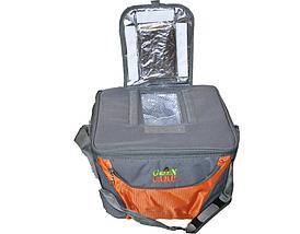 Термосумка, сумка-холодильник GREEN CAMP GC1410-3, серо-оранжевая, объем 15 л, фото 3