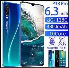 Смартфон P38pro умный телефон Android 8 + 128G 10 ядер face id и сканер отпечатка пальца
