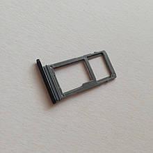 Сим-лоток для Samsung A8 / A530 1 Sim Black
