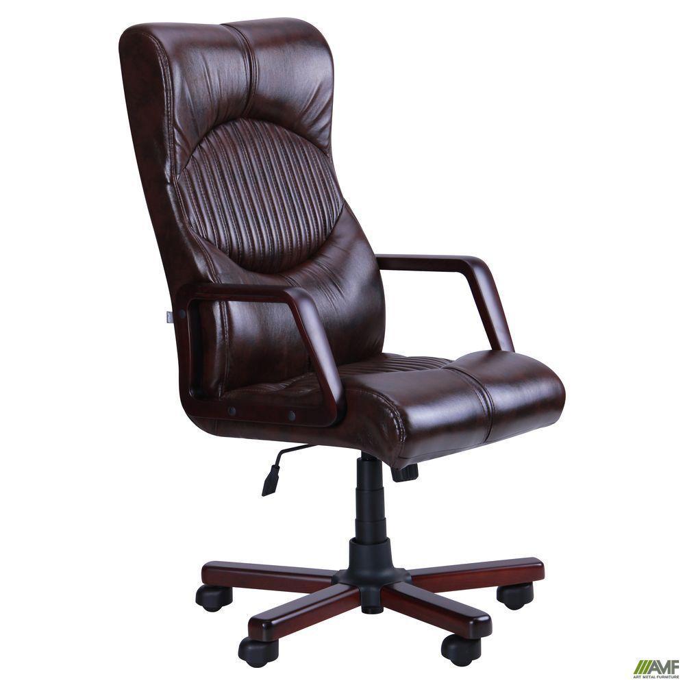 Кресло офисное AMF Геркулес Экстра тёмно-коричневое
