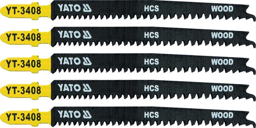 Пиляльне полотно для електролобзика (дерево) YATO HCS 13TPI 115 мм 5 шт