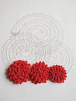 Шаблон пластиковый цветок хризантема пышная 28, фото 1