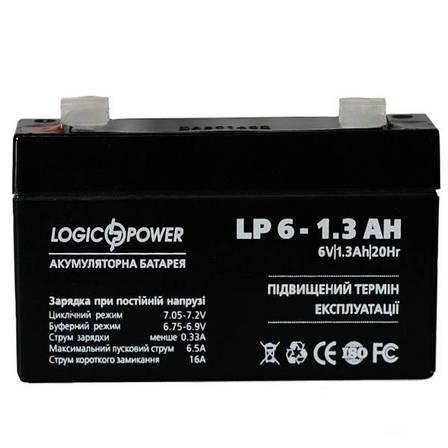Аккумулятор AGM LogicPower LP 6-1,3 AH, фото 2