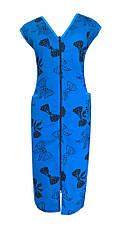 Трикотажний халат на змійці Батал, фото 2