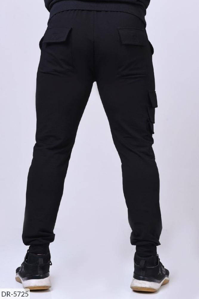 Стильные мужские брюки  с карманами, штаны