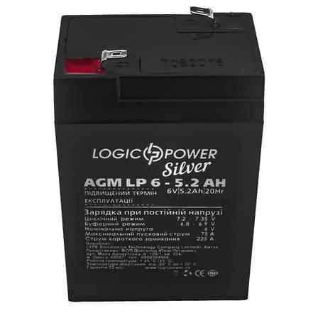 Аккумулятор AGM LogicPower LP 6-5,2 AH, фото 2