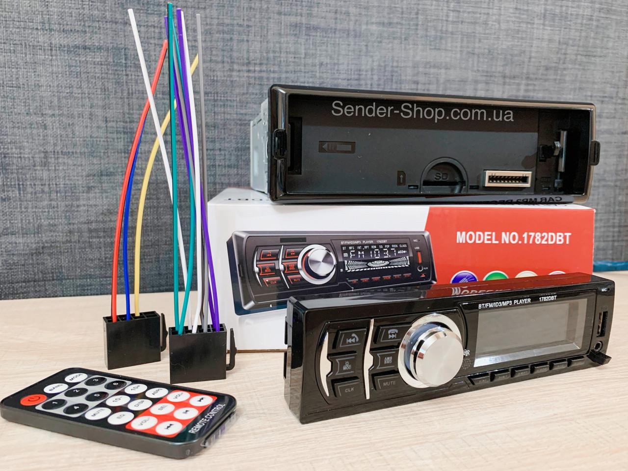 Автомагнитола съёмная панель Блютуз 1DIN USB Bluetooth AUX micro SD
