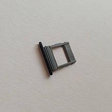 Сим-лоток для Samsung A8 Plus / A730 1 Sim Small Black