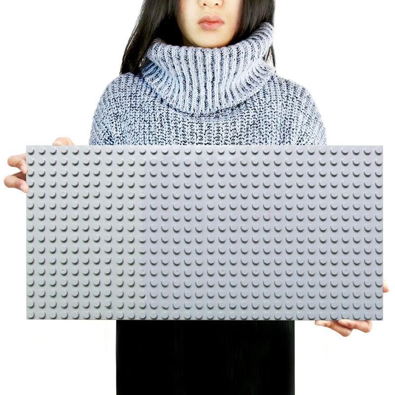 Большая строительная пластина 51x25.5 см для конструктора LEGO Duplo Серая
