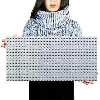 Большая строительная пластина 51x25.5 см для конструктора LEGO Duplo Серая, фото 1