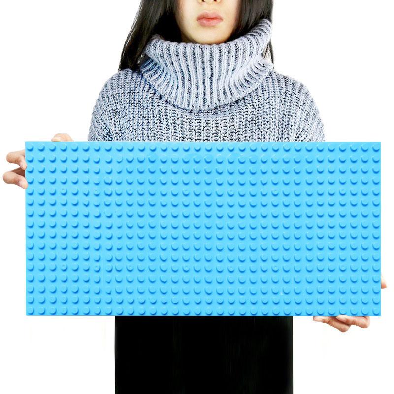 Большая строительная пластина 51x25.5 см для конструктора LEGO Duplo Синяя