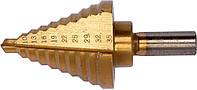 Сверло по металлу конусное ступенчатое YATO HSS 4241 6-35 мм 75/45 мм