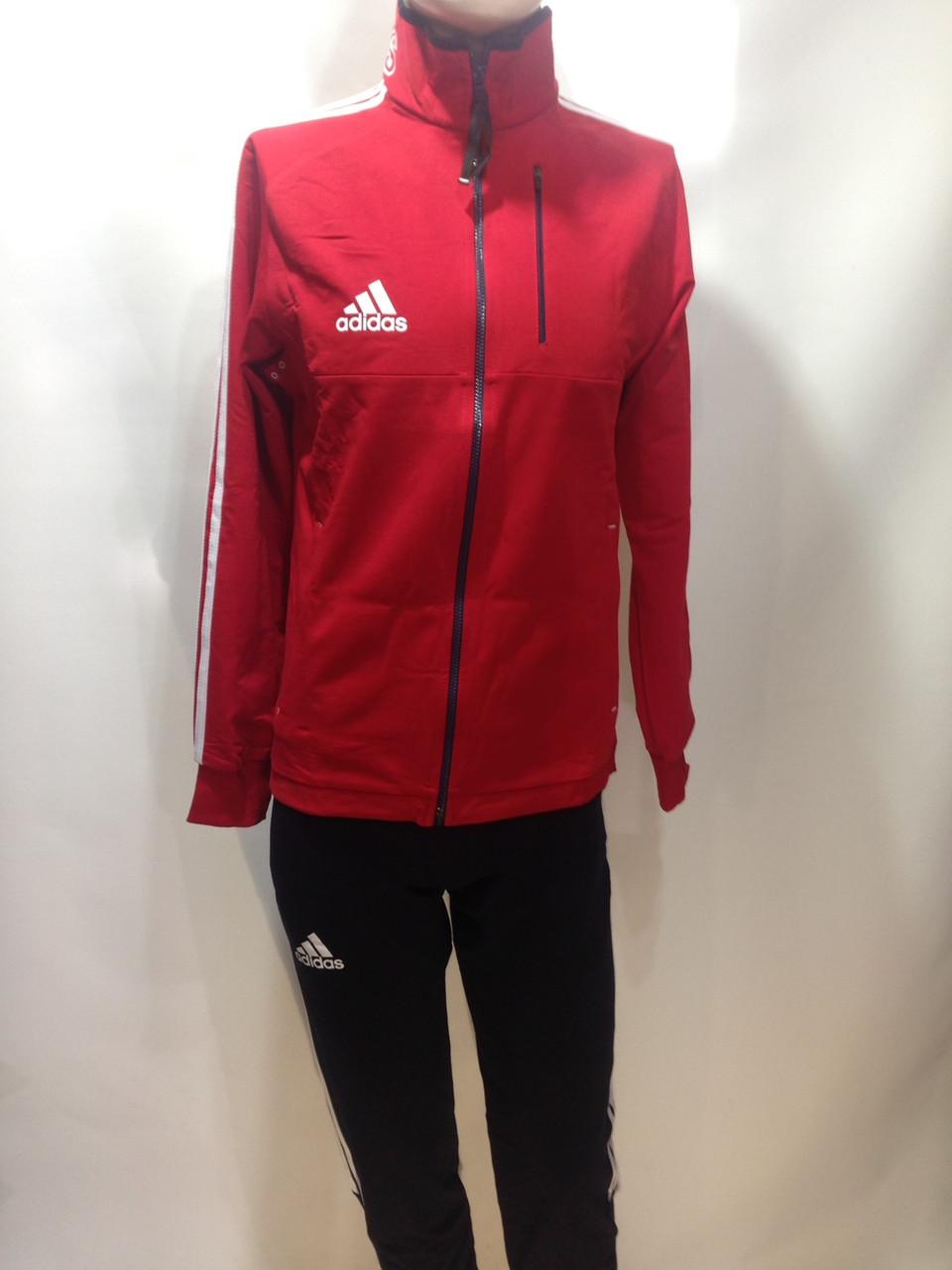 Мужской спортивный костюм в стиле Adidas весенний отличного качества красный