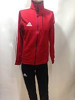 Мужской спортивный костюм в стиле Adidas весенний отличного качества красный, фото 1
