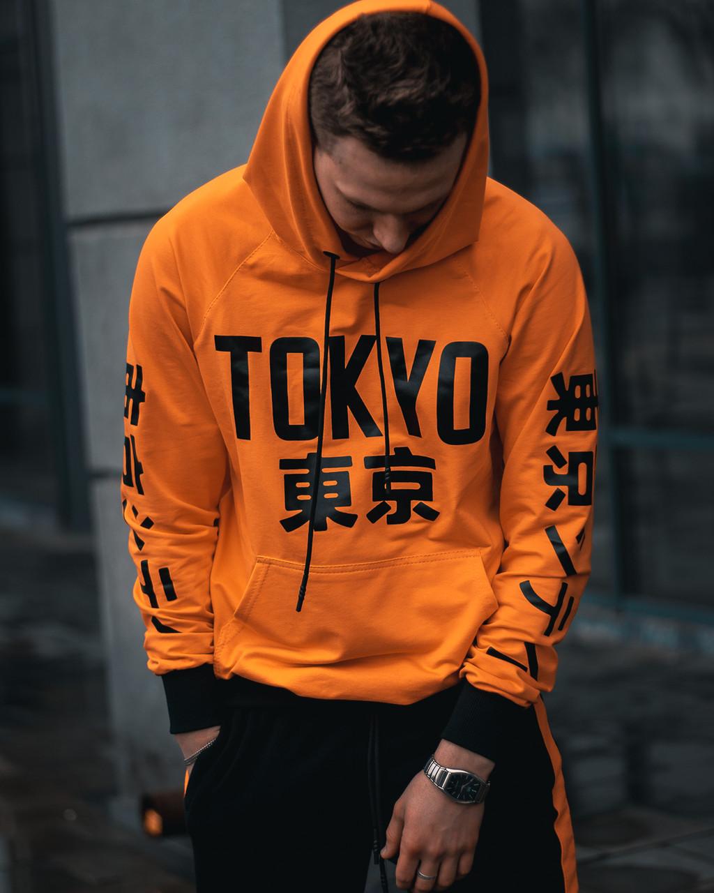 Худи унисекс Tokyo оранжевое( только Xs и Xl)