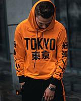 Худи унисекс Tokyo оранжевое( только Xs и Xl), фото 1