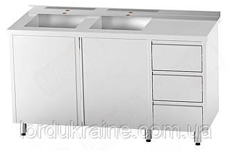 Стол-тумба с распашными дверями и выдвижными ящиками CSW-2.1-С2S3DR Orest
