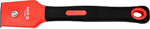 Цикля-скребок с полипропиленовым корпусом и резиновой ручкой YATO лезо- 30 мм 200 мм 40