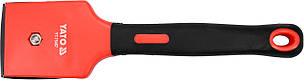 Цикля-скребок с полипропиленовым корпусом и резиновой ручкой YATO лезо- 30 мм 200 мм 65