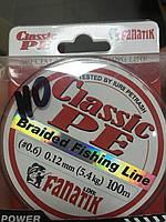 Шнур FANATIK Classik PE X4 100м GREEN 0.12mm