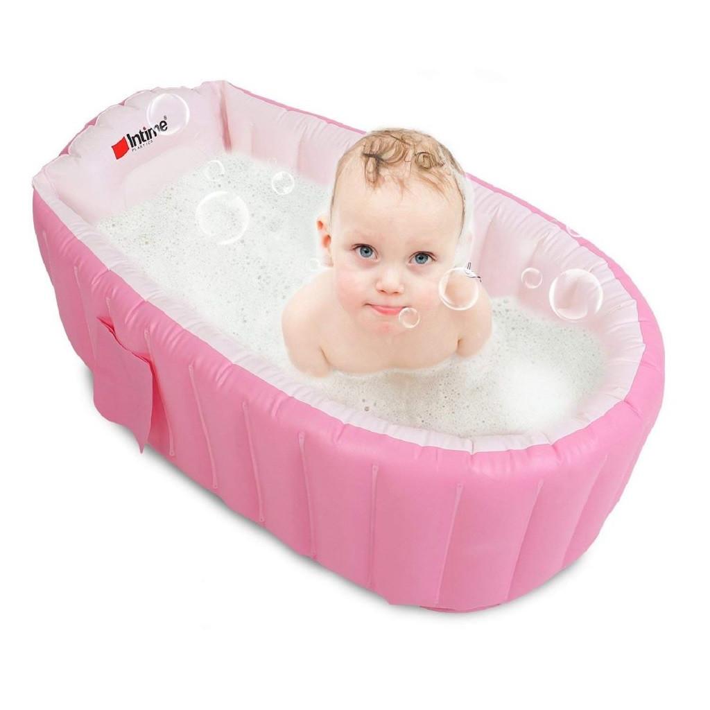 Детская ванночка для купания Intime Baby Bath Tub, ванночка надувная, ванночка для купания