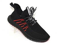 Мужские черные кроссовки, летняя мужская обувь