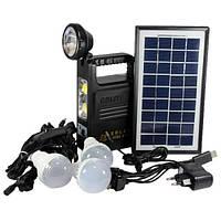 Автономная система освещения для отдыха GDLite на солнечных батареях Черный (i2118)