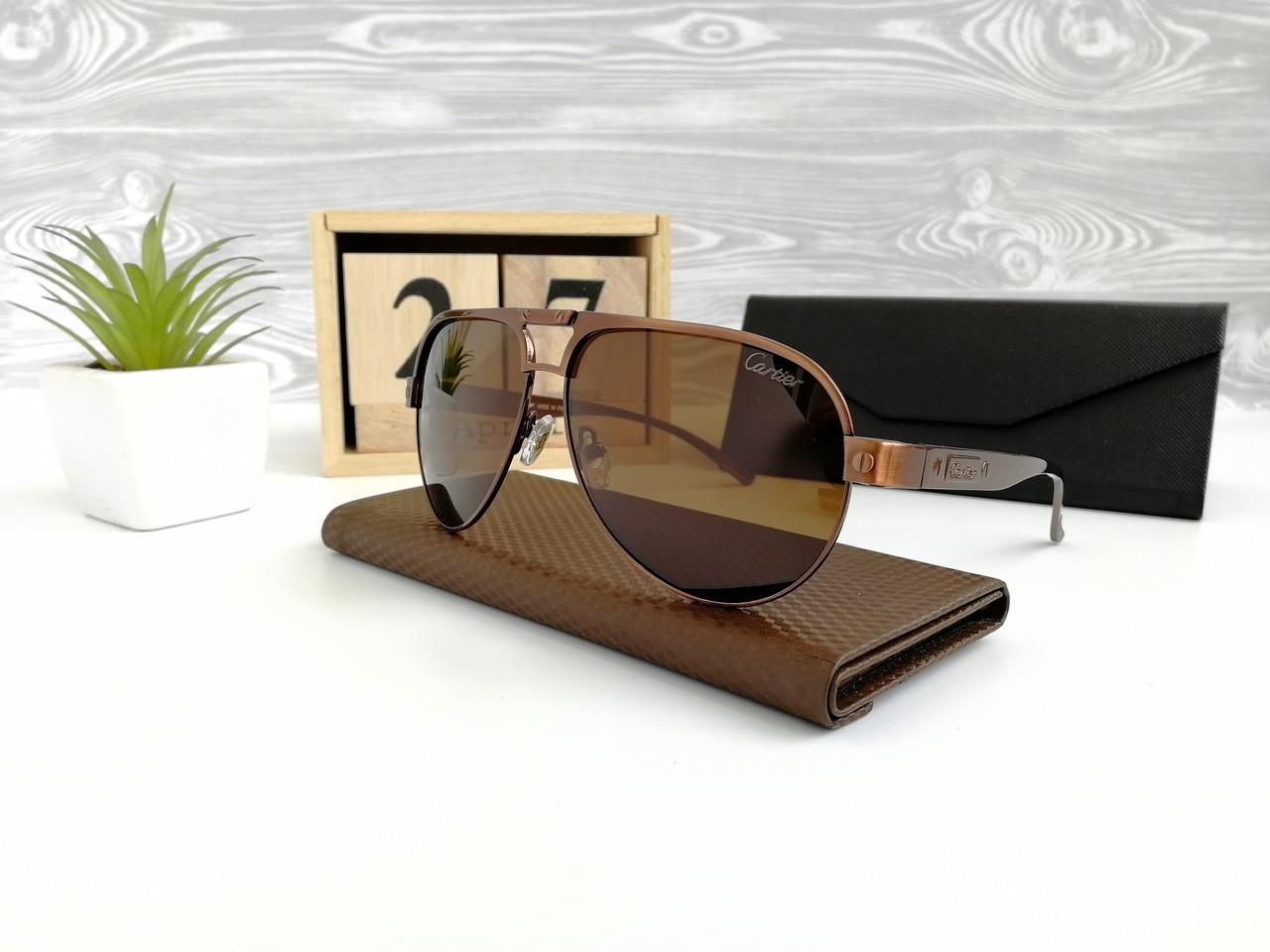 Очки мужские солнцезащитные Cartier. Стильные мужские очки.