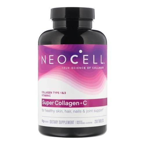 Препарат для восстановления суставов и связок Neocell Super Collagen+C Type 1+3 (250 таб)