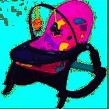 Детский шезлонг-качалка 7788