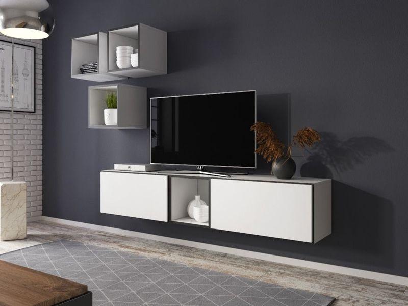 Вітальня Roco 8 білий/чорний/білий (модульні меблі)(Cama)