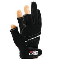 Перчатки для рыбалки ABU GARCIA STRETCH GLOVE, размер L