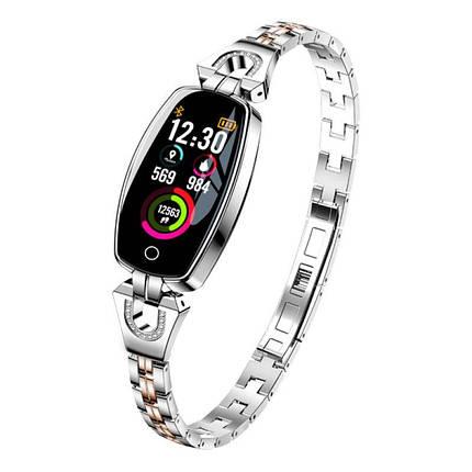 Умный браслет Smart band H8 Luxury Waterproof IP67 Silver, фото 2