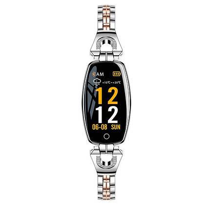 Розумний браслет Smart band H8 Luxury Waterproof IP67 Silver, фото 2